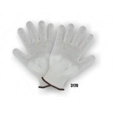 Spectra Knit, Knit Wrist, Light Weight (13-gauge), White, 3 Pair Per Bag