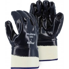 Jersey Knit, Nitrile Dipped, Smooth Finish, Fully Coated, Safety Cuff, Heavy Weight