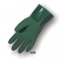 Nitrile Dipped, Micro Finish, Seamless Knit Liner, 12 Inch, Green