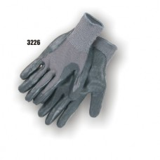 Foamed black nitrile palm, 13-gauge gray nylon liner.