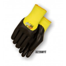 SuperDex, palm coated Yellow/Black, heavy weight thermal liner