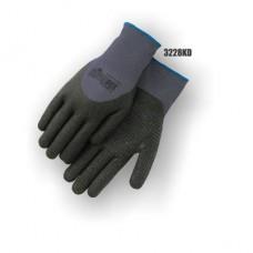 SuperDex, Gray/Black, dotted, 3/4 dip, micro-foam nitrile