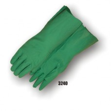 Nitrile, Flock Lined, 13 Inch, 11 Mil, Green, Unlined