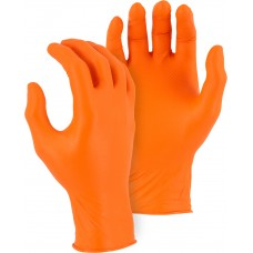 Orange Super Grip Disposable Gloves with Embossed Fish Scale Pattern