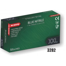 Nitrile, Disposable,12 Mil, Textured Fingertips, Rolled Hem 50/Box Nitrile 3 mil
