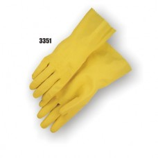 Latex, Flock Lined, 13 Inch, 16 Mil, Yellow, Retail 1 Pair Poly Pack