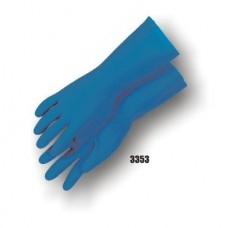 Latex, Flock Lined, 13 Inch, 20 Mil, Blue