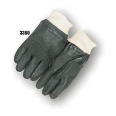 Pvc Dipped, Sand Finish, Interlock Lined, Knit Wrist, Black