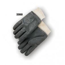 Pvc Dipped, Sand Finish, Jersey Lined, Knit Wrist, Black