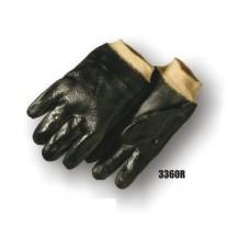 Pvc Dipped, Rough Finish, Interlock Lined, Knit Wrist, Black