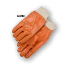 Pvc Dipped, Smooth Finish, Jersey Lined, Knit Wrist, Caramel