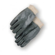 Pvc Dipped, Smooth Finish, Jersey Lined, Knit Wrist, Black