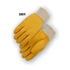 Pvc Dipped, Smooth Finish, Interlock Lined, Knit Wrist, Fully Coated, Yellow
