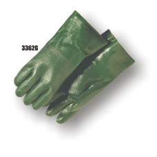 Pvc/Nitrile Blend Dipped, Irregular Finish, Interlock Lined, 12 Inch, Green