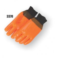 Pvc Dipped, Smooth Finish, Foam Lined, Knit Wrist, Orange