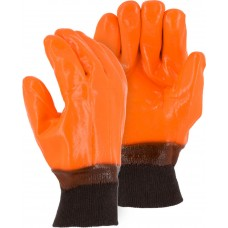 3370 Winter Lined PVC Glove with Smooth Finish and Knit Wrist Cuff