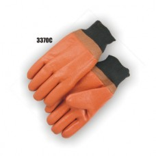 Caramel Color Pvc Dipped, Smooth Finish, Knit Wrist, Foam Lined (Large Only)