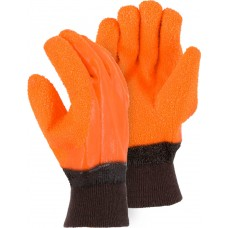 3370G Winter Lined PVC Glove with Heavy Grit Finish and Knit Wrist Cuff