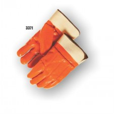 Pvc Dipped, Smooth Finish, Foam Lined, Safety Cuff, Orange