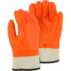 3371 Winter Lined PVC Glove with Safety Cuff