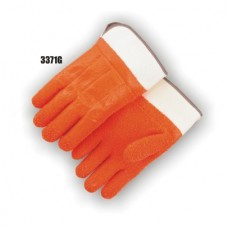 Pvc Dipped, Gritty Finish, Foam Lined, Safety Cuff, Orange