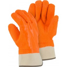 3371G Winter Lined PVC Glove with Heavy Grit Finish and Safety Cuff