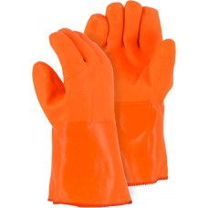 3374 Winter Lined PVC Glove with Sand Finish for Wet Grip