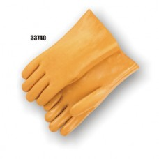 Caramel Color PVC Dipped, Smooth Finish, Foam Lined, 12 Inch (Large Only)