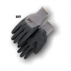 Lightweight Nylon Liner with a Dipped Latex Palm. The Latex Extends to Cover the Full Finger.