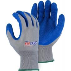 Nylon, Rubber Palm Dipped, Knit Wrist, Blue/Gray, SuperDex
