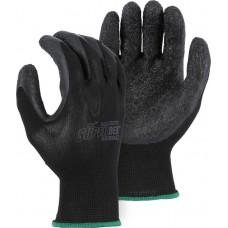 Nylon, Rubber Palm Dipped, Knit Wrist, Black/Black, SuperDex