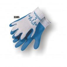 String Knit, Rubber Palm Dipped, Knit Wrist, Blue/Gray