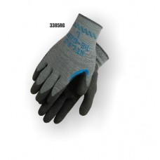 Atlas re-grip, reinforced thumb crotch, black latex over blue latex on gray seamless knit liner. S