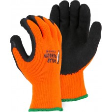 3396HO Polar Penguin High Visibility Orange Latex Palm Winter Glove