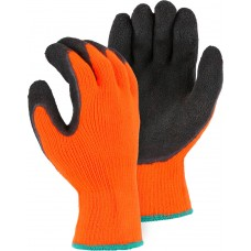 3396HON Custom Logo Polar Penguin High Visibility Orange Latex Palm Winter Glove