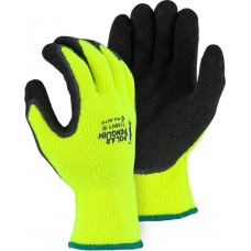 3396HY Polar Penguin High Visibility Yellow Latex Palm Winter Glove