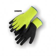 Hi-Vis Terry Lined Yellow Knit, Rubber Palm, Excellent Wear and Resistance, Super Fit, No Logo