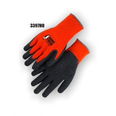 Hi-Vis Orange Knit, Rubber Palm, Excellent Wear and Resistance, Super Fit, Sizes S-XL