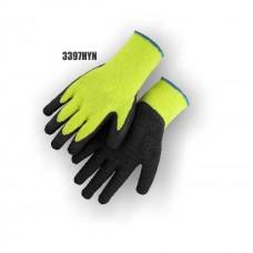 Hi-Vis Yellow Knit, Rubber Palm, Excellent Wear and Resistance, Super Fit, Sizes S-XL