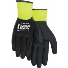 Waterproof winter glove. 15 gauge shell, 10 gauge insulated liner. Closed cell nitrile dip and added sandy nitrile dip palm