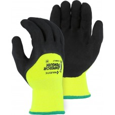 3399KLY Emperor Penguin High Visibility Yellow Winter Glove with Sandy Latex Palm