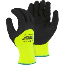 3399KNY Emperor Penguin High Visibility Yellow Winter Glove with Sandy Nitrile Palm