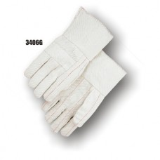 Cotton, 18 Ounce Quilted Palm, 10 Ounce Back, Knuckle Strap, Gauntlet Cuff