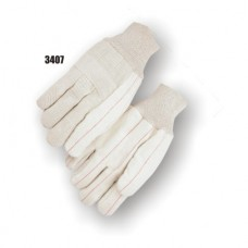 Cotton, 24 Ounce Quilted Palm, 10 Ounce Back, Knuckle Strap, Knit Wrist