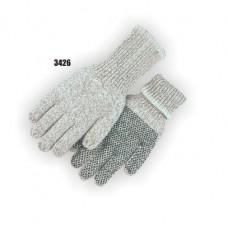 Full finger, PVC dots on palm.