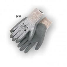 Dyneema Cut Resistant Knit, Ring Spun, Black Polyurethane Palm Dip, Color Coded Hem EN3 34-5337 Dyneema Cut Resistant Knot, Ring Spun, Black Polyurethane Palm Dip, Color Coded Hem, TPR Impact protection EN3