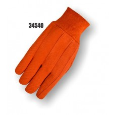 Polyester/Cotton Canvas, 20 Ounce, Knit Wrist, Orange