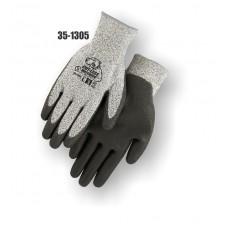 HPPE Cut Resistant Knit, Polyurethane Palm Dipped, Color Coded Hem, CE Cut Level 3