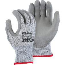 Cut-less Diamond® Cut Resistant Gloves Made With Dyneema®and Soft gray polyurethane palm coating