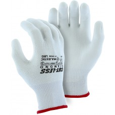Cut-less Diamond® Cut Resistant Gloves Made With Dyneema®- Heavier Knit, White Polyurethane  Palm Coating